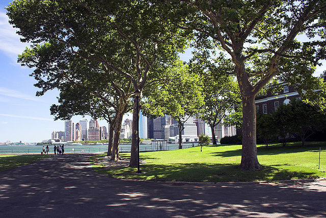 Governors Island, view of Manhattan