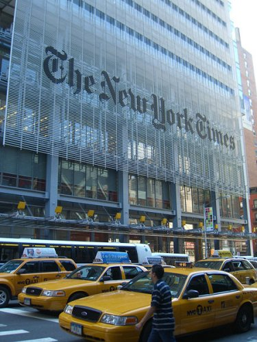 Front facade of the New York Times Building