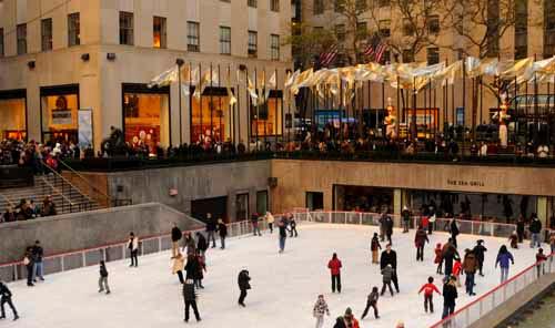 The Rockefeller Center Ice Skating Rink