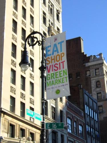 Union Square Greenmarket Sign